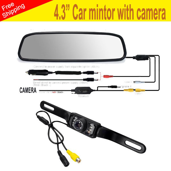 4.3 Inch TFT Car LCD Rearview Mirror High Definition Display DVD Monitor Camera - Shenzhen VOV Technology Co., Ltd. store