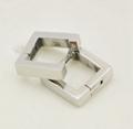 Fashion Square Hoop Earring Europe and America Rock Womem Jewelry High Quality Stainless Steel Hoop Earrings