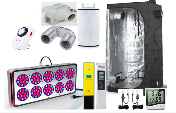 Complete Grow Tent Indoor Hydroponic 120x120X200cm HPS Apollo 12 LED Grow Light 270W Greenhouse Garden Grow Kit Set-up System(China (Mainland))