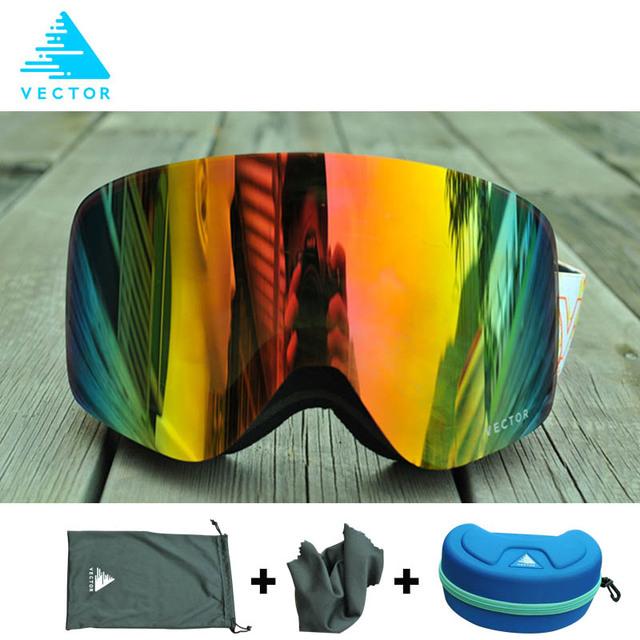 Бренд Лыжные Очки С Случае Двойного Объектива UV400 Анти-противотуманные Лыжные Очки Снег Очки Катание На Лыжах Мужчины Женщины Сноуборд Очки