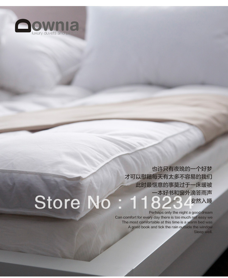 Rose-Free Shipping-75% Duck Down  Mattress Topper-700GSM-90*190cm-Anti-allergenic<br><br>Aliexpress