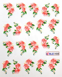 Watermark nail art applique finger water transfer printing nail art accessories finger sticker ble series