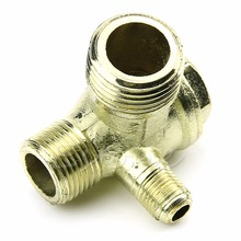 J34 A96 Free Shipping New 3-Port Brass Male Threaded Check Valve Connector Tool for Air Compressor(China (Mainland))