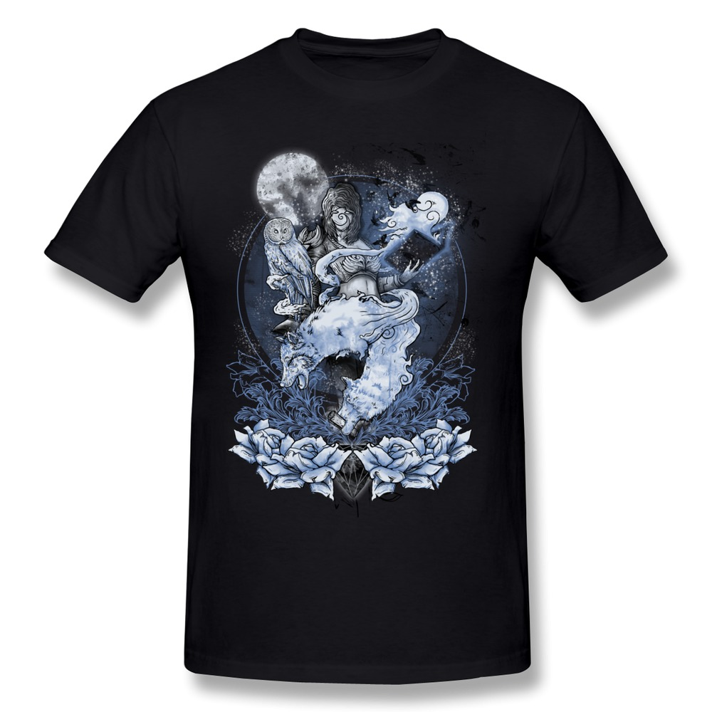 Printing latest full moon summoner men t shirt screw neck for Full t shirt printing