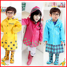 Free Shipping Eco-friendly Child Raincoat Thickening Fashion Male Female Child Baby Poncho With School Bag Position