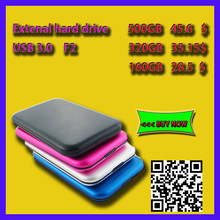 """New F2 disque dur 500 GB USB 3.0 disque dur externe 2.5 """" disque dur externe Portable 500 GB Mobile disque dur HDD Promotion(China (Mainland))"""