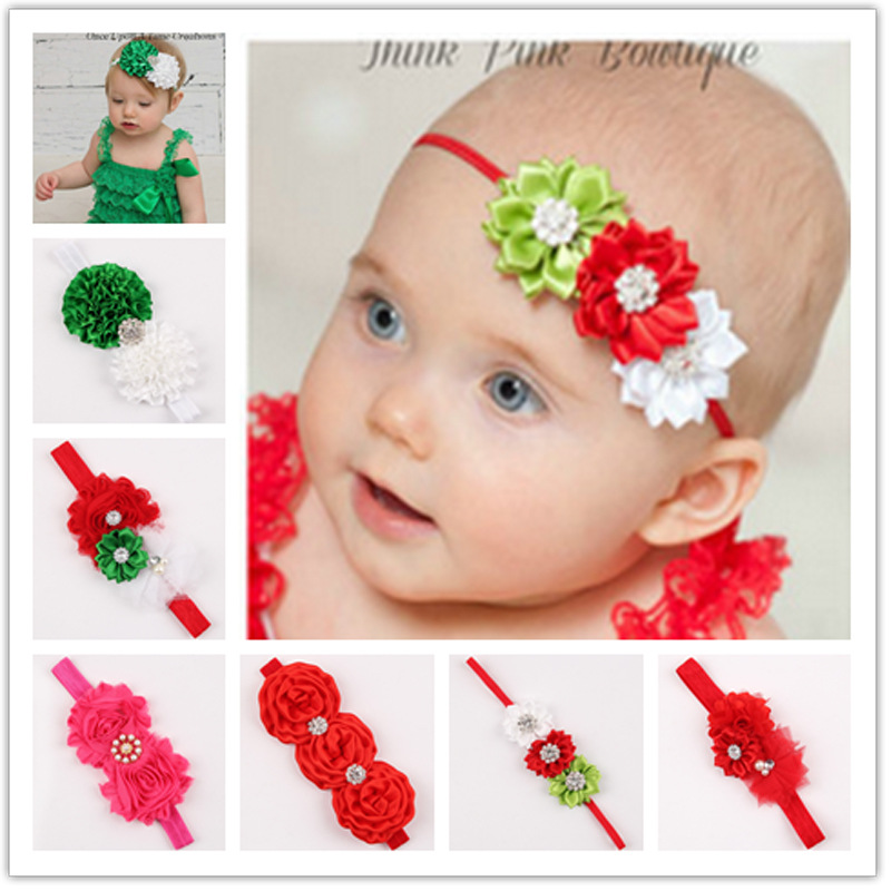 free shipping new 2015 Christmas models of child baby hair accessories headbands elastic hair band headband 6 colors(China (Mainland))