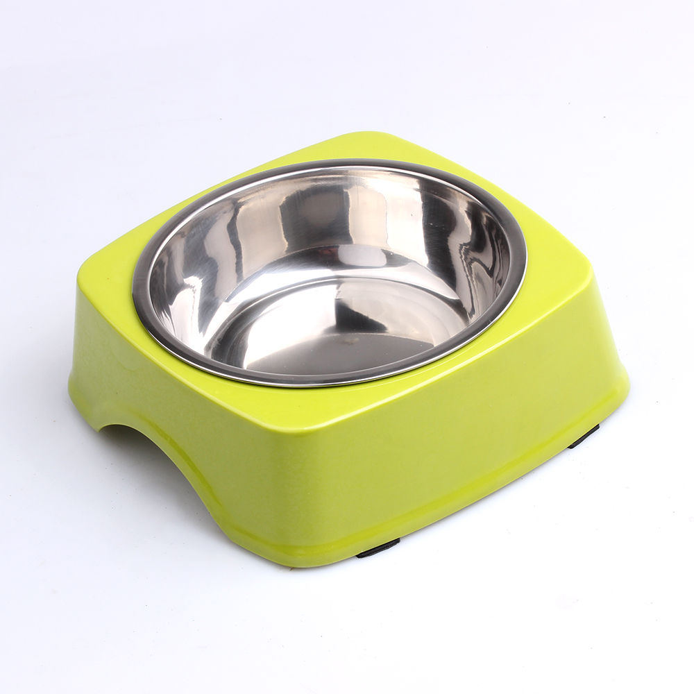 Square metal dog cat food bowl stainless steel dog bowl pet cat food pet supplies tableware disinfection watering(China (Mainland))