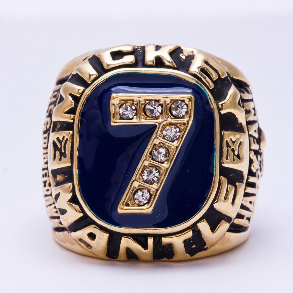 Replica Newest Design 1956 Mickey Mantle Baseball Championship Rings(China (Mainland))