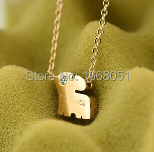 rose gold plated cute Elephant pendant necklace chain women accessories,fashion collar necklace gift collier jewelery joyas(China (Mainland))