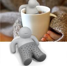 2014 Teapot Cute Mr Tea Infuser Tea Strainer Coffee Tea Sets Silicone Mr Tea