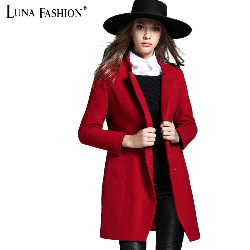 5XL plus size 4XL 3XL 2XL 2015 winter long sleeve elegant coats women red cape coat abrigo de invierno las mujeres