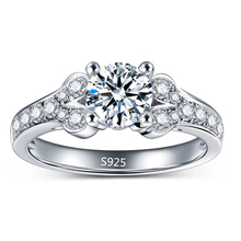 White Gold Plated Engagement Rings For Women AAA CZ Diamond Jewelry Wedding Ring Bijoux Bague Femme Anillos Mujer Gifts MKR096