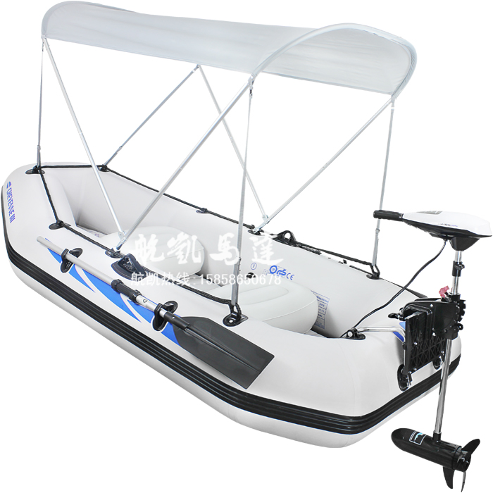 Electric outboard four person fishing boat rubber boat for 4 person fishing boat