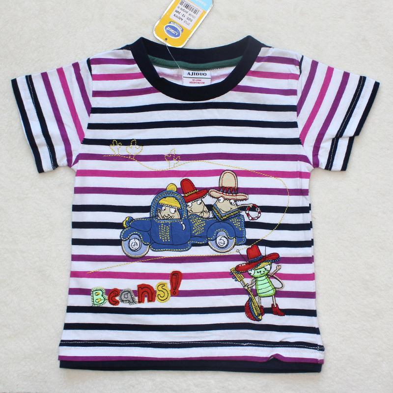 wholesale 5pcslot 2013 newest design cute striped t