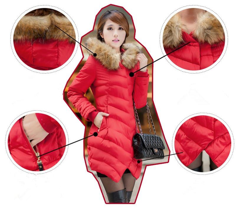 Скидки на М-3XL Женщины Искусственного Меха С Капюшоном Зима Толстые Теплые Парка Ватные Куртки Женский Хлопка Куртки Верхняя Одежда Slim Down Парки Пальто