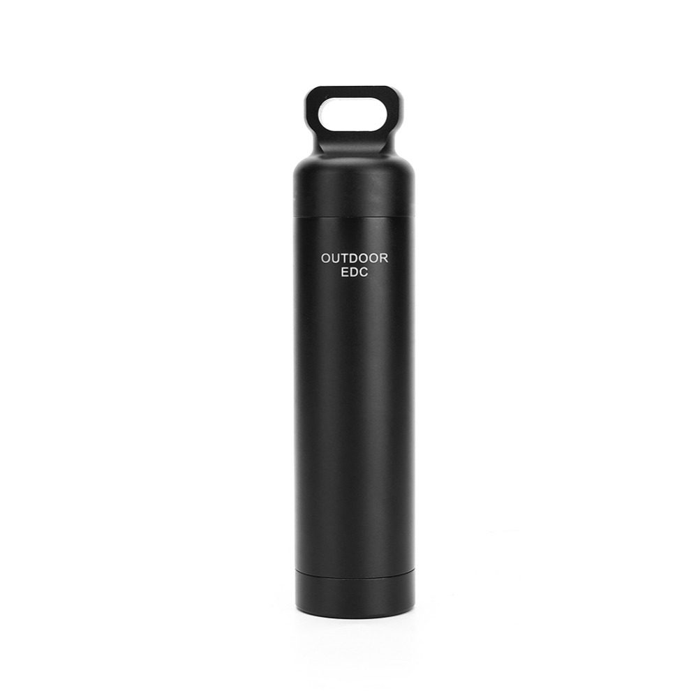 Survival Waterproof Tank Aluminum Medicine Pill Bottles Outdoor First Aid Cartridge Mini Container Camping Equipment(China (Mainland))