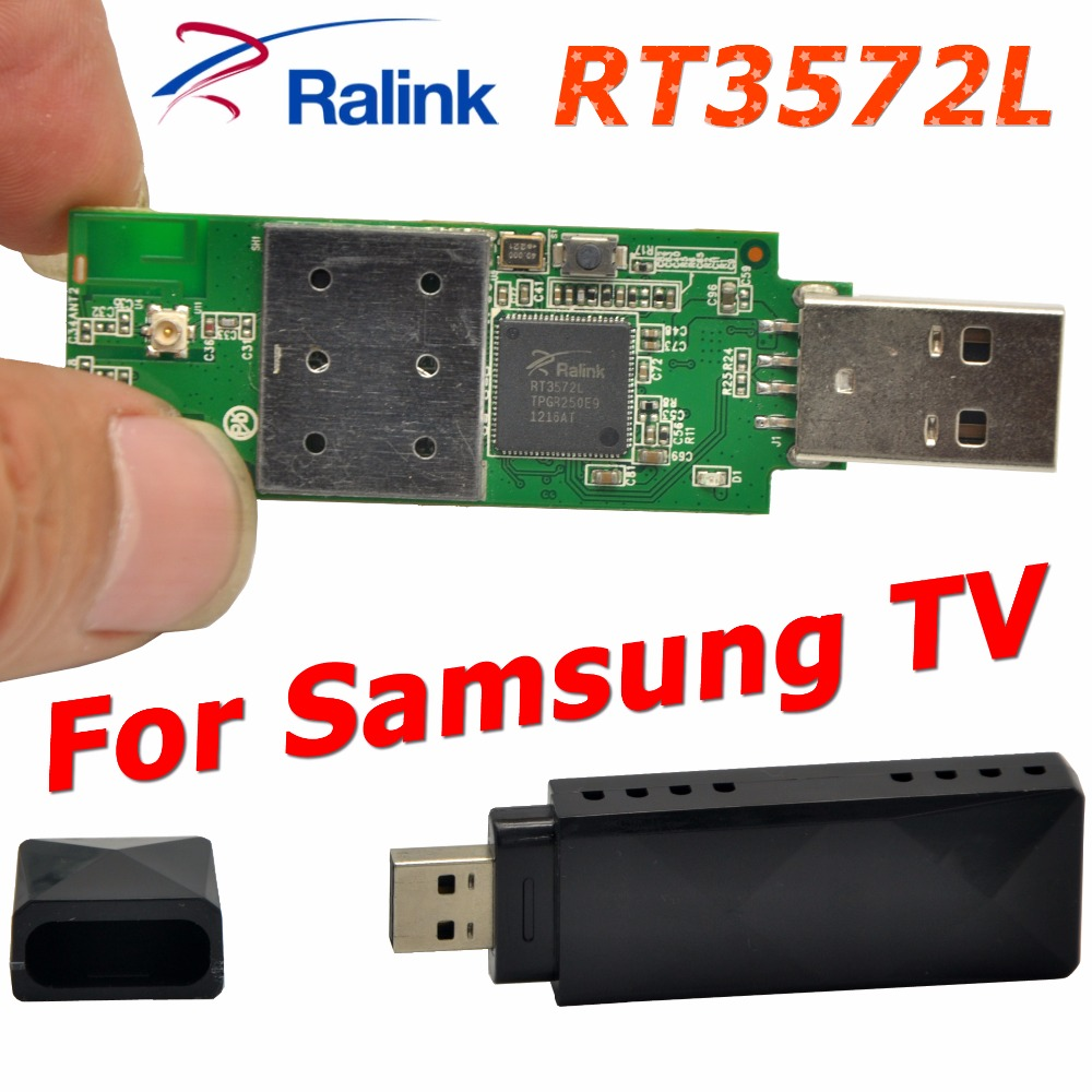 RaLink RT3572L 802.11AC 600Mbps USB WiFi Adapter WiFi Dongle Wireless Adapter + 2 x PCB Antenna For SamSung TV / Windows 7/8/10(China (Mainland))