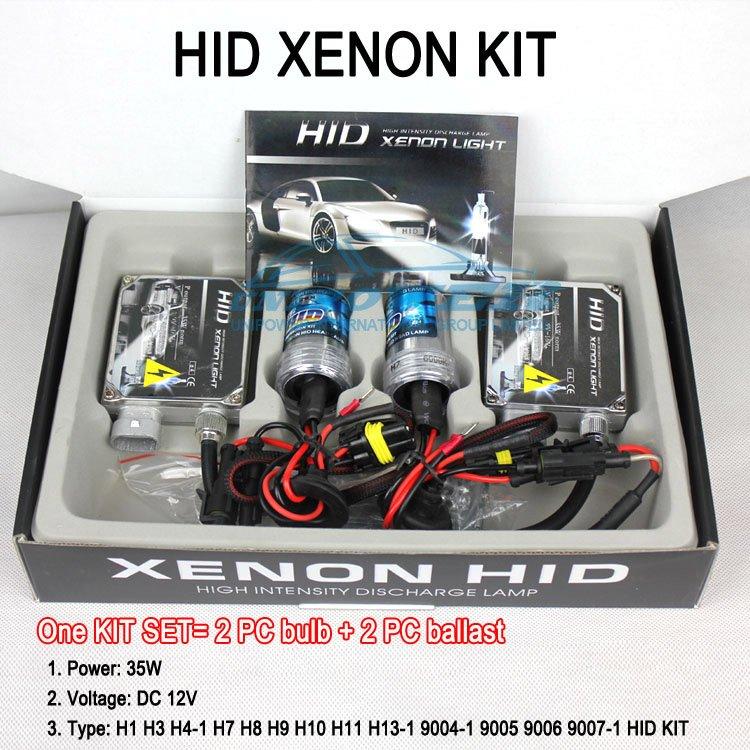 H1 H3 H4 H7 H8 H9 H10 H11 9004 9005 9006 9007 HID KIT SET HID XENON SYSTEM 35W hid conversion kit Free shipping