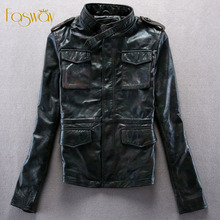 Factory Genuine Leather Jacket Women Real Cowskin Camouflage Army M65 Brand Pocket Slim Fit Bomber Motorcycle Coat Autumn ZH146(China (Mainland))