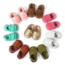 ROMIRUS 2016 New Summer Style Baby Moccasins Soft Bottom Fringe Candy Color Girls Toddler Shoes Baby Slippers Boys prewalkers(China (Mainland))
