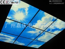 2014 blue and white luminous ceiling smallpox new new interior ceiling blue sky(China (Mainland))