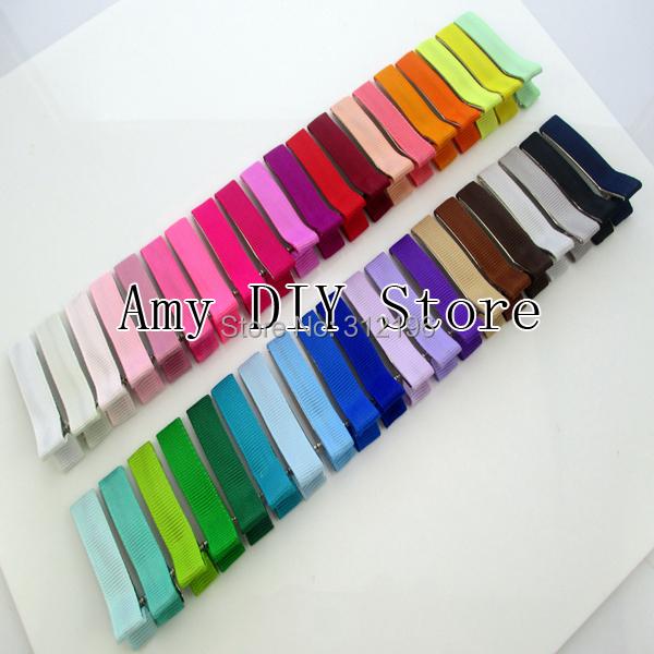 "Free Shipping!Baby Girls 1.9""DIY Ribbon Hair Bows Clip Double Prong Ribbon Lined Alligator Hair Clips Hair Accessories200pcs/lot(China (Mainland))"