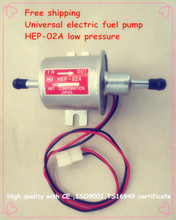 Free shipping diesel petrol gasoline 12V electric fuel pump HEP-02A low pressure fuel pump for carburetor, motorcycle , ATV(China (Mainland))