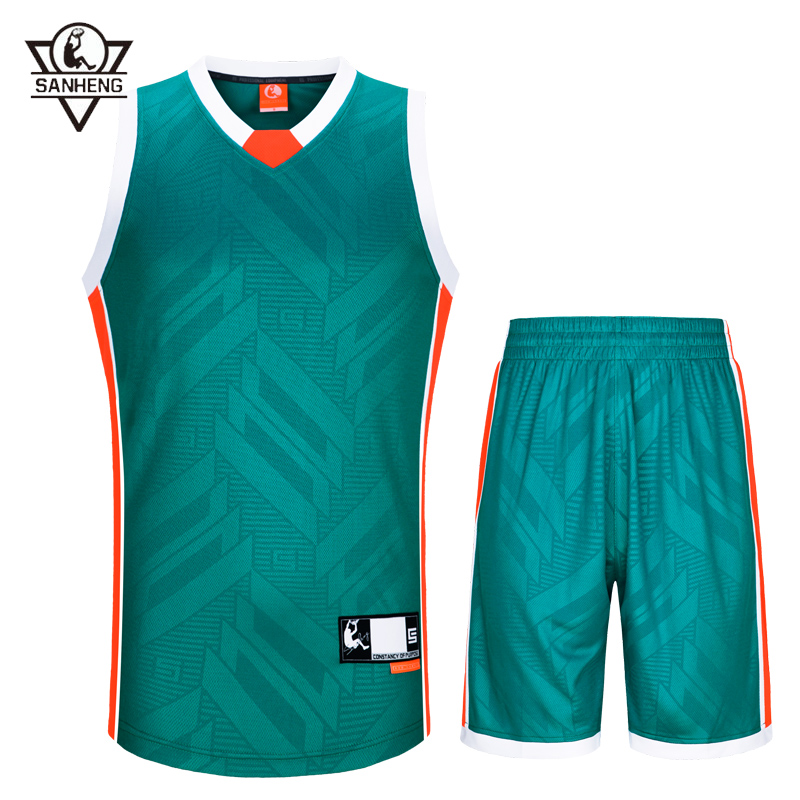 2016 Brand SANHENG Mens Summer O-Neck Sleeveless Throwback Basketball Jerseys Set 313AB(China (Mainland))