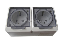 Consumer Electronics> Electrical Equipment> European sockets> Switches>European three surface mounted waterproof socket>MT-002