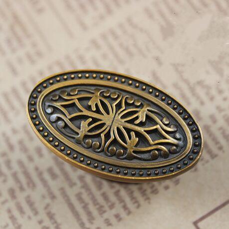 Drawer knob pull handle bronze kichen cabinet pull knob antique dresser cupboard furniture decoration hardware handle pull knob