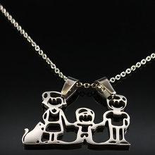 Dây Chuyền Mama Họ Dây Chuyền Trang Sức Bạc Màu Tình Yêu Trai Bé Gái Mặt Dây Chuyền Vòng Cổ Choker Nữ Tặng N2201(China)
