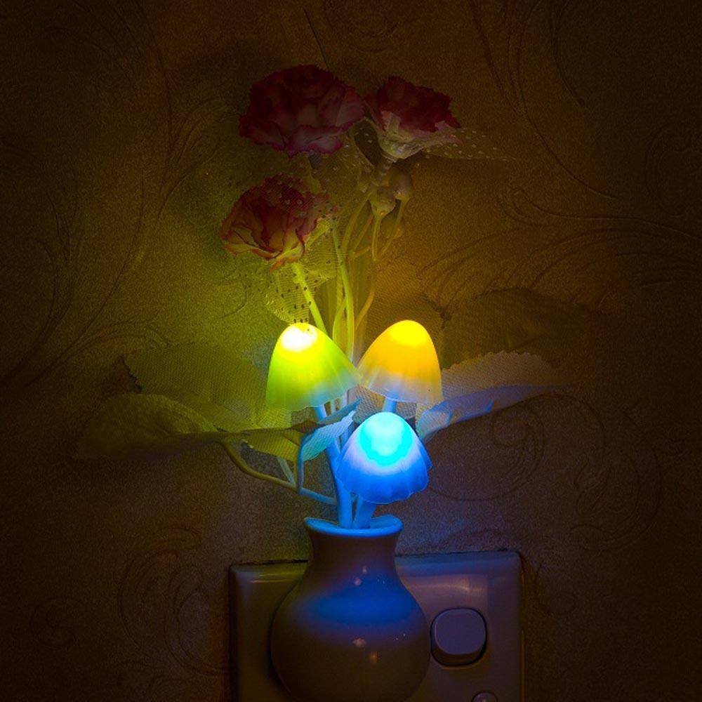 Fashion Heaven Romantic Colorful Mushroom Lamp LED Night Light about 18*5cm Dream Bed Lamp Free Shipping Mar29(China (Mainland))