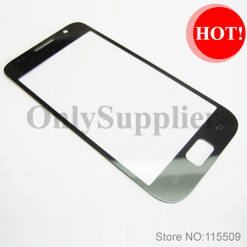 Free shippingOuter LCD Screen Lens Glass for Samsung i9001 i9000 Galaxy S Plus ~ BLACK