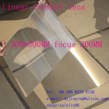 300*300mmF300mm linear fresnel lens for solar energy