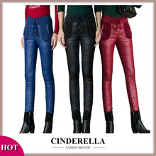2015 Pants Winter Leggings Female Plus Outer Wear High Waisted Ladies Waterproof Warm Women Down Cotton Pants Trousers Big Size(China (Mainland))