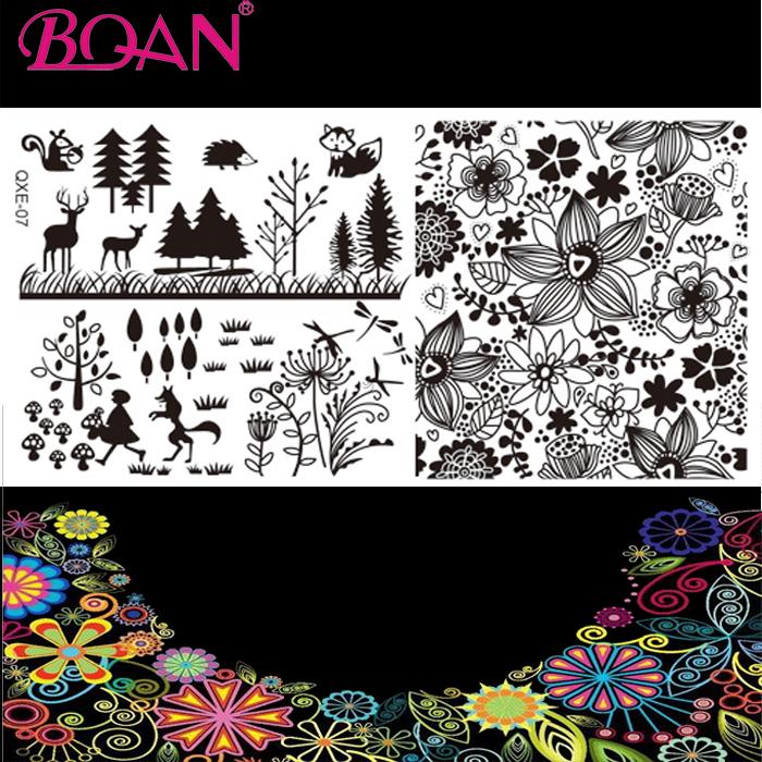 10pcs/lot Flower/Tree/Animal Patterns Custom Nail Art Stamping Plates(China (Mainland))