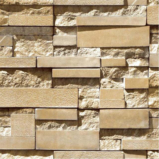 Gray brick Imitation Custom Mural Walpaper