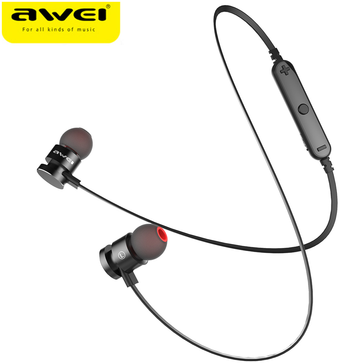 2017 Newest AWEI T1 Wireless Headphone Bluetooth Earphones Fone de ouvido For Phone Neckband Ecouteur Auriculares Bluetooth V4.2(China (Mainland))