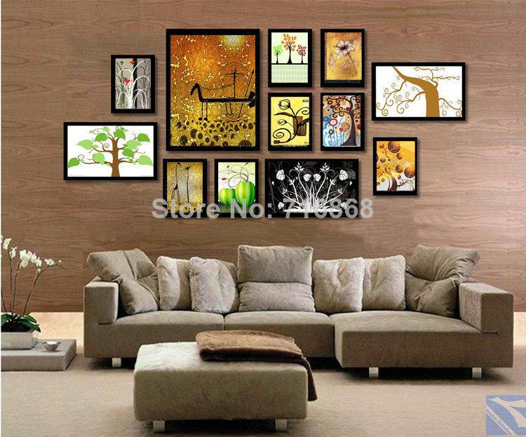 W25015 5 Art Home Decor 12pcs Multi Frame Black Color