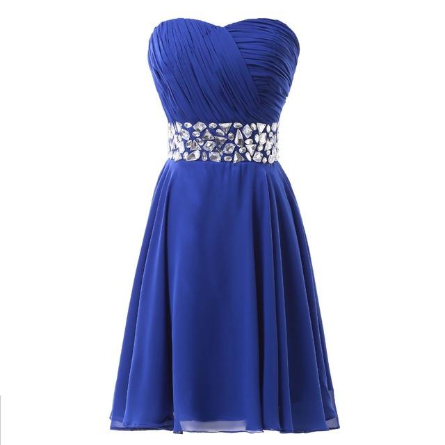 Весна стиль милый корсет средней школы королевский синий короткое выпускного платья ...