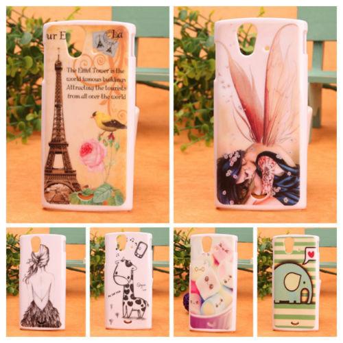 1x Fashion Cartoon PC Plastic Protective Cover Skin Hard Case For Sony Ericsson Xperia Ray ST18i(China (Mainland))