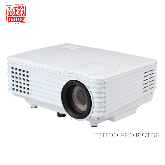2000Lumens Wall Projection Data Show Mini LED Projector Project Professional Equipment Mobile Laptop PC Kidding Perfect Beam(China (Mainland))