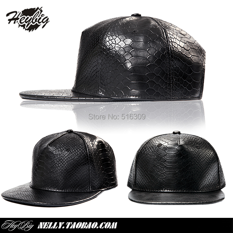 2015 new Solid color full snakeskin high quality hiphop hat boidae serpentine leather baseball cap hater(China (Mainland))