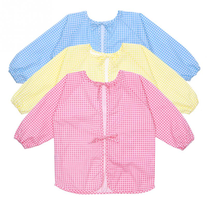 1pc Baby ToddLer Kids Children Long Sleeve Waterproof Art Apron Cotton Apron - One -RJ(China (Mainland))