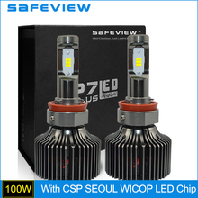Buy Safeview Turbo LED External Headlight Bulb H8 Single Beam 50W 10000LM CSP Seoul WICOP LED Chip Automobile Lighting Source for $61.51 in AliExpress store