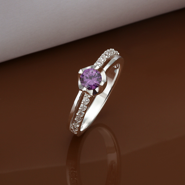 ring cheap wedding rings sets for women fashion circle set purple gem