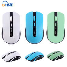DTIME 2.4G Cordless Wireless Mouse Mute Noiseless Silent Cordless Game Gamer Optical Gaming USB Mice For Laptop Computer Girl PC(China (Mainland))