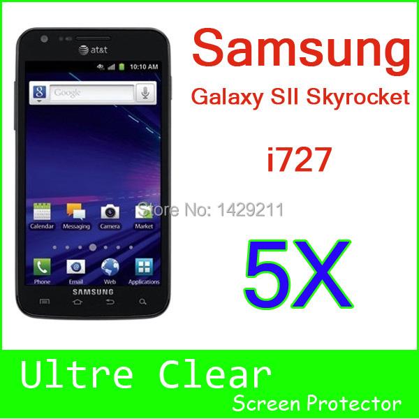 Sparkling Diamond Screen Protective For Samsung Galaxy SII S2 Skyrocket i727 Screen Protector LCD Film 5pcs Free Shipping(China (Mainland))