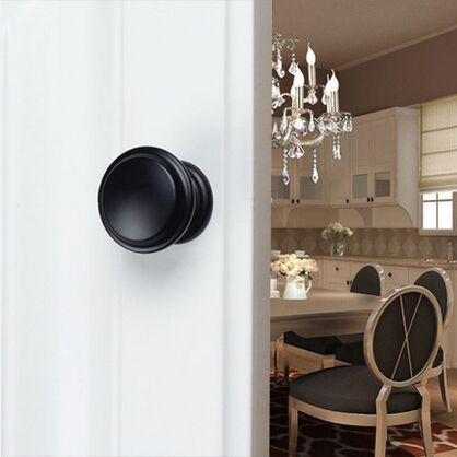 34mm drawer knob pull dresser pull knob black kichen cabinet  cupboard handle knob pull furniture decoration hardware handles
